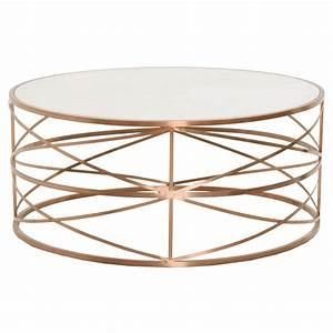Melrose round coffee table for Rose gold round coffee table