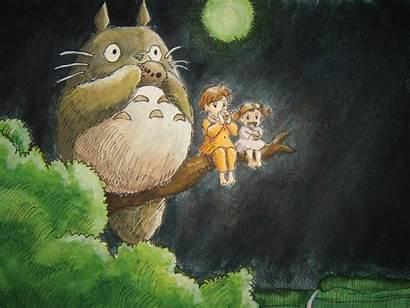 Totoro Neighbor Deviantart Ghibli Background Wallpapers Backgrounds