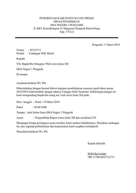 Contoh Surat Undangan Resmi by Contoh Surat Resmi Lengkap