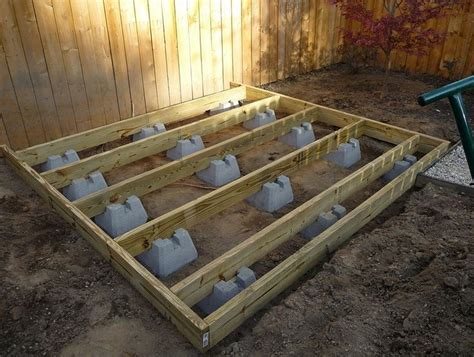 Precast Concrete Deck Footings Home Depot by Best 25 Ground Level Deck Ideas On Deck With