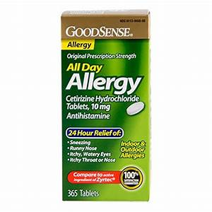 goodsense all day allergy cetirizine hcl tablets 10 mg 365 count