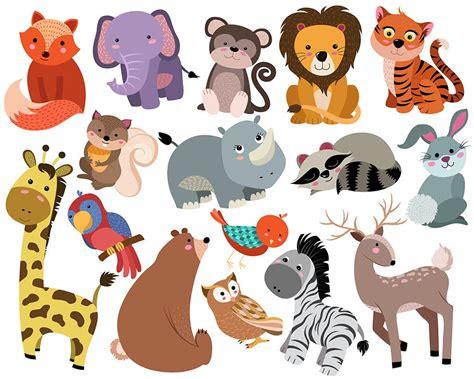 animal clipart animals clip set of 16 300 dpi