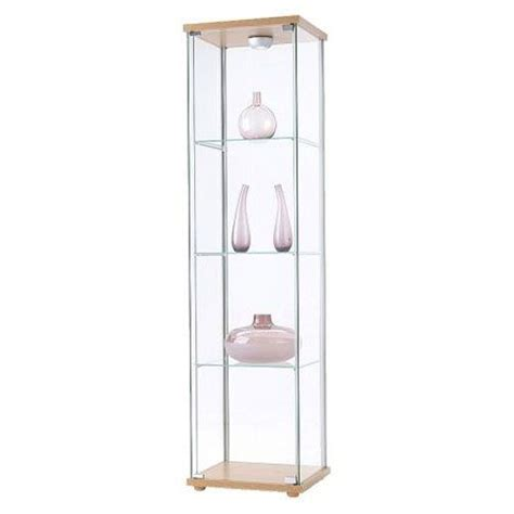 detolf display cabinet lighting ikea detolf glass curio display cabinet light brown by