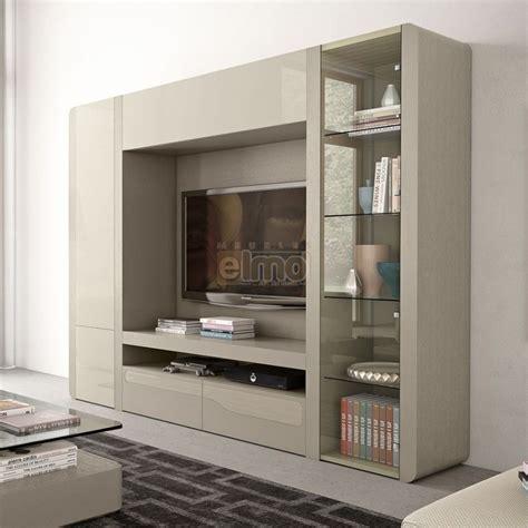 cuisine bois laqué composition murale contemporaine meuble tv living laque orchid