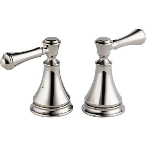 delta pair of cassidy metal lever handles for roman tub