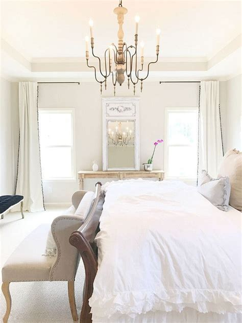 Learn all about this great colour in this paint colour review by kylie m interiors. Bedroom Chandelier. Chandelier is from Ballard Designs. Bedroom Chandelier.… | Bedroom colors ...
