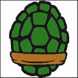 ninja turtle shells embroidery design for 6x10 hoop With ninja turtle shell template