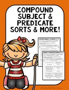 grade compound subject  predicate worksheets