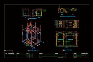 Plumbing And Septic Tank Details In Autocad