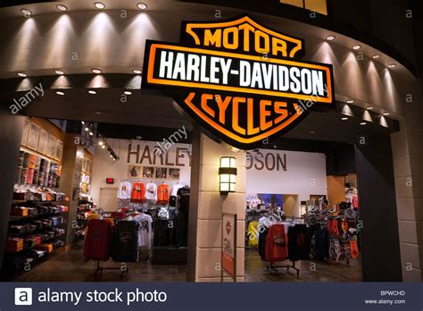 Harley Davidson Shop by The Harley Davidson Clothes Store In Las Vegas Usa Stock