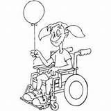 Wheelchair Coloring Balloon Sheet Ramp Template Activities Pages Templates sketch template