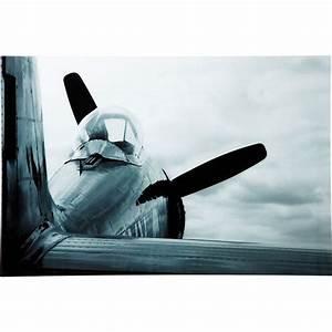 Tableau En Verre : tableau en verre airplane ~ Melissatoandfro.com Idées de Décoration