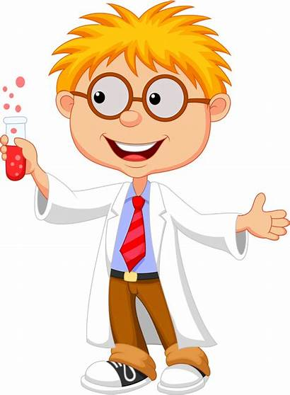 Science Experiments Preschool Cartoon Scientist Kid Clipart