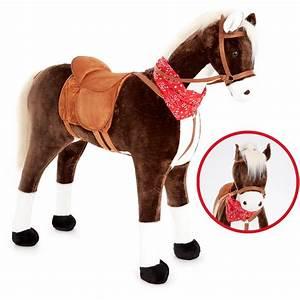 Schaukelpferd Western Schaukel Pferd Kinder Kinderpferd Holzpferd mit Sattel NEU Holzspielzeug