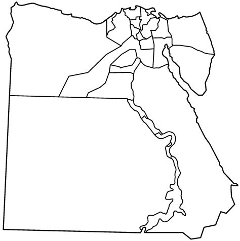 Egypt Governorates Blank