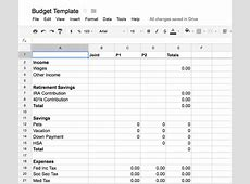 Marvelous Money Tracking your budget with Google Docs