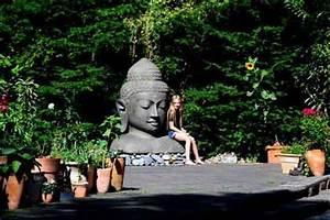 buddha kopf im garten With französischer balkon mit buddha kopf garten