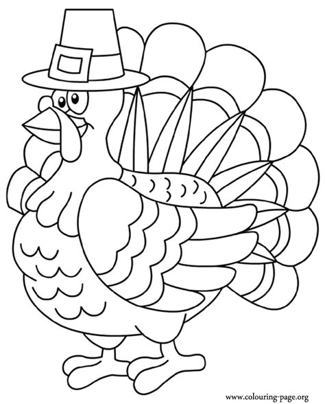 Coloring A Turkey by Thanksgiving Turkey Coloring Pages Getcoloringpages