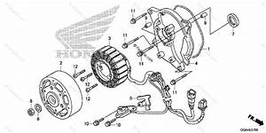 Honda Scooter 2015 Oem Parts Diagram For Alternator Stator