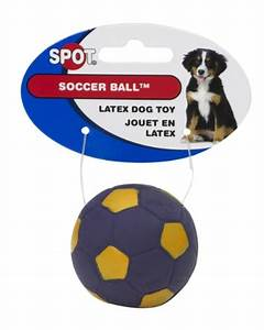 ethical 2 inch latex soccer ball dog toy