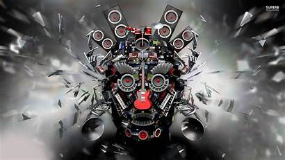 Wallpapers 3d Trap Face Eyes Guitar Drums