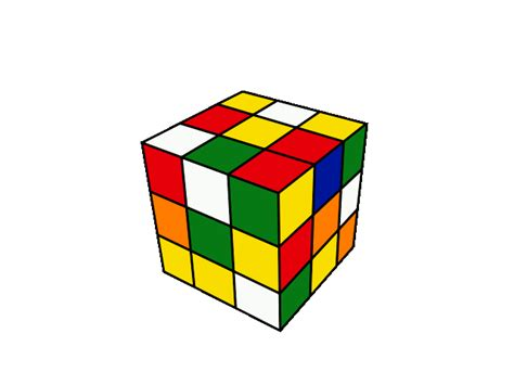 Rubiks Cube Graphic Animated Gif