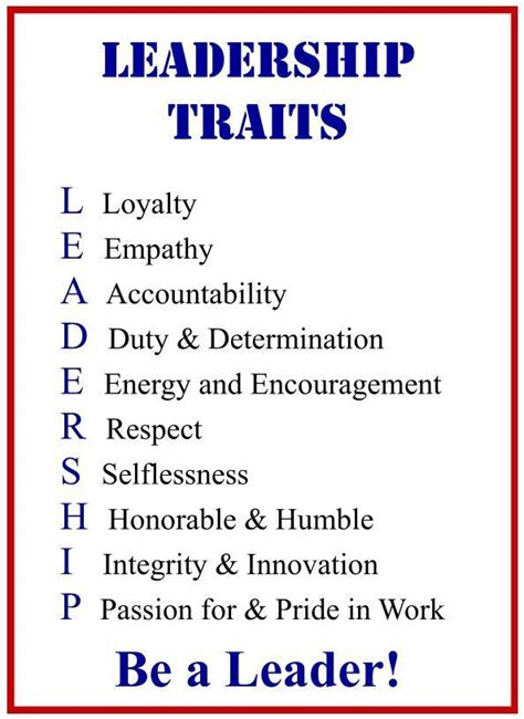 leadership traits poster crossword puzzle leadership