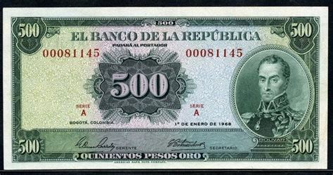 colombia money picture  pesos oroworld banknotes