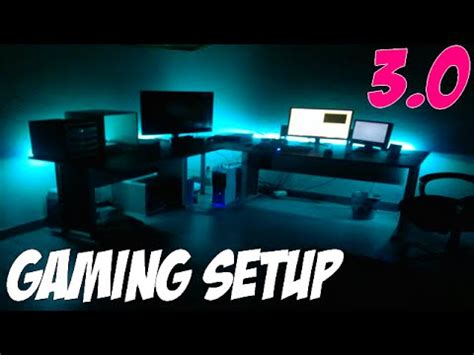bureau gaming gaming set up 3 0 led ps4 bureau