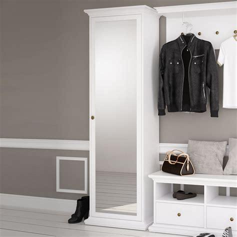 chippendale möbel weiß flurschrank mit spiegel flurschrank krestanin aus kernbuche massivholz schuhschrank