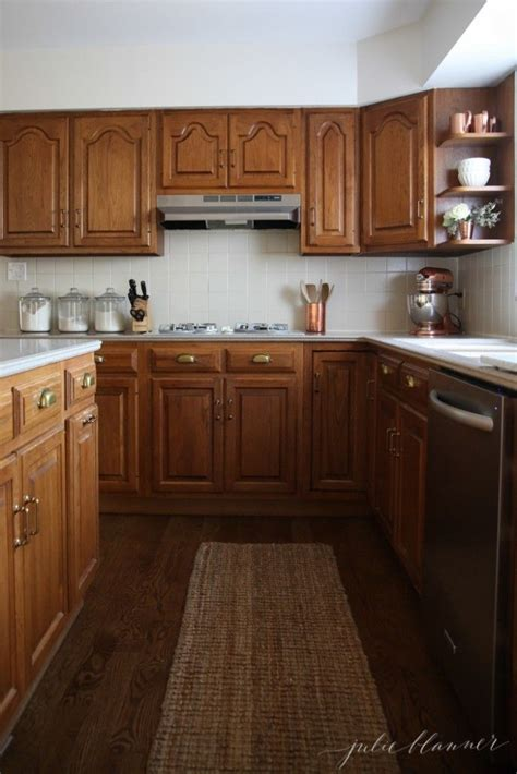 How To Update Oak Cabinets - 1000 ideas about updating oak cabinets on gel