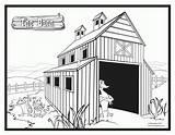 Barn Coloring Printable Swallow Door Drawn Farm Designlooter Popular Getcolorings Coloringhome 18kb 1687 sketch template