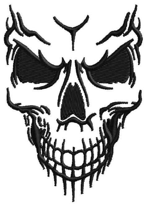 vorlagen totenkopf totenkopf stickerei design