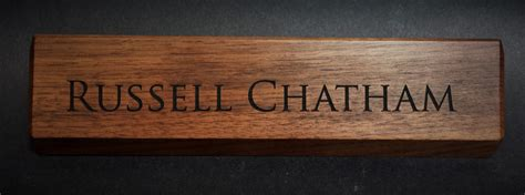 wooden name signs for desk personalized wooden desk name plates 10 inch solid walnut
