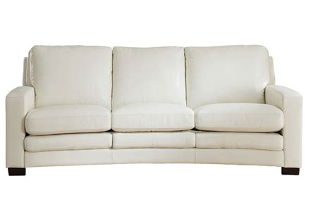 joanna full top grain ivory white leather sofa