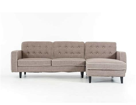 Contemporary Grey Fabric Sectional Sofa Fabric Sectional