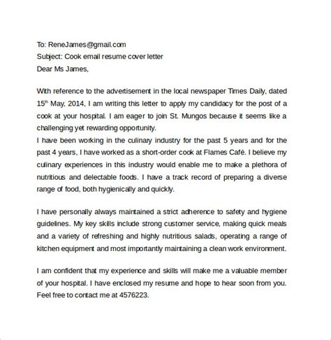 sle email cover letter template to 11 free