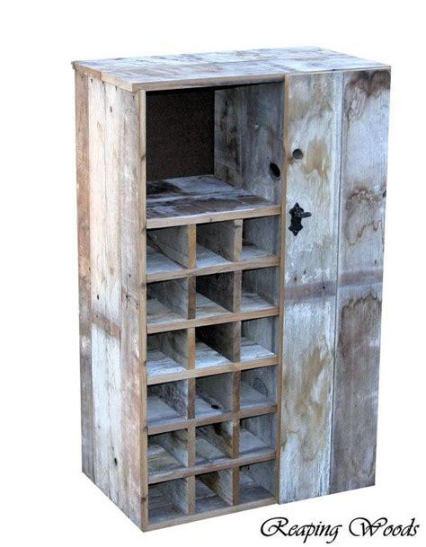 Cupboard Wine Rack by Large Reclaimed Rustic Barn Wood Wine Storage Cabinet Rack