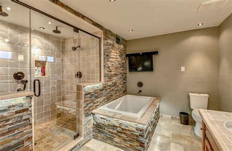 Modern Rustic Bathroom Tile by 21 Travertine Shower Ideas Bathroom Designs