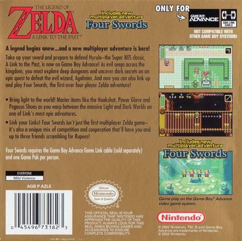 The Legend Of Zelda A Link To The Past Box Shot For Game