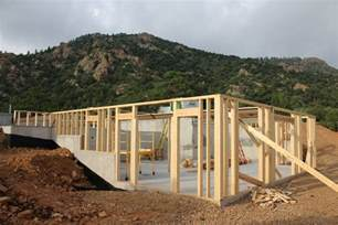 house plans with walk out basements cañon city house framing update evstudio architect