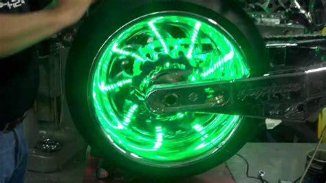 motorcycle wheel light kit all things chrome green led wheel lights plus a
