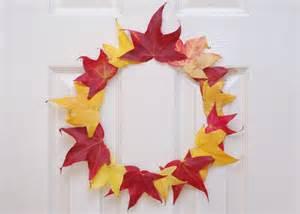 Thanksgiving Leaf Wreath Crafts Kids