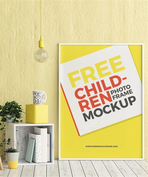 kids room photo frame mockup psd  graphisme
