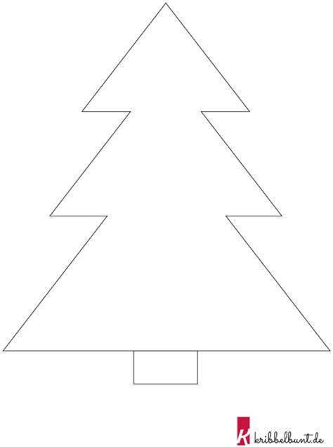 tannenbaum vorlage zum ausdrucken  kribbelbunt