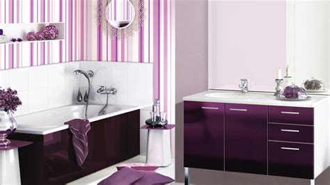 Majestically Pleasing Purple And Lavender Bathroom