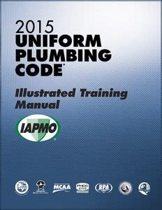 uniform plumbing code illustrated training manual
