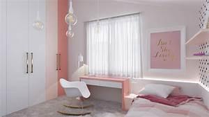 Cool, Teenage, Girls, Bedroom, Ideas, With, Minimalist, Concept