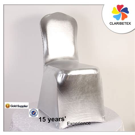 plicated shiny cheap universal banquet wedding chair cover