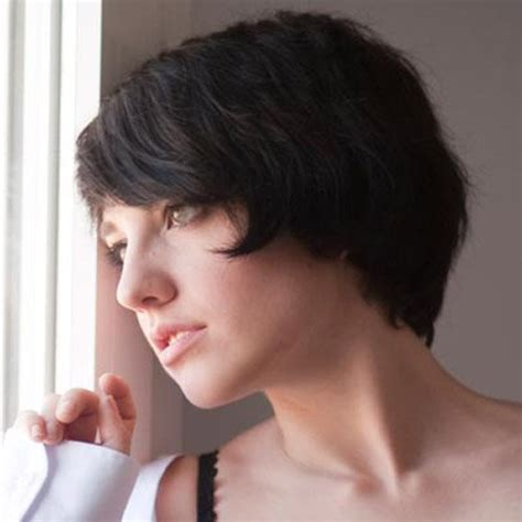 short length hairstyles for thick hair best a line bob